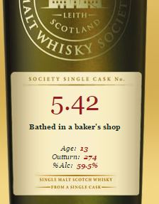SMWS Bathed in a baker's shop