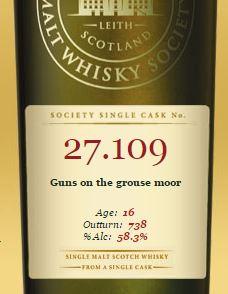 SMWS Guns on the grouse mor