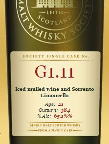 SMWS Ice mulled wine and Serrento Lemoncello